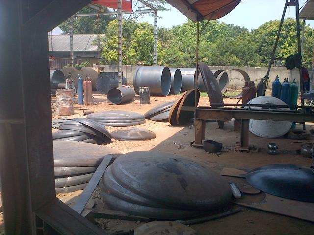 Foto: Jasa Bodem Flanging, Roll Plate Dan Pembuatan Tangki