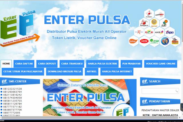 Foto: Dsitributor Pulsa Elektrik Murah All Operator Token Listrik VPucer Game Online