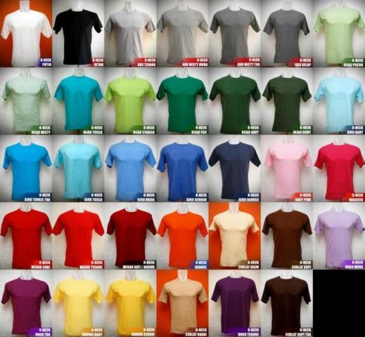 Foto: Grosir Baju Kaos Polos Murah