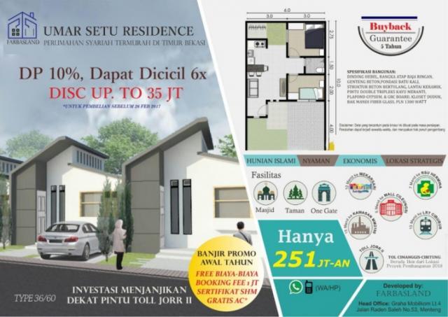 Foto: Rumah Minimalis Harga Tipis Di Umar Setu Residence Bekasi