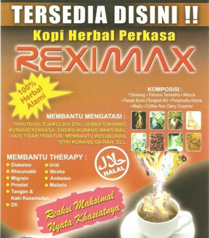 Foto: Kopi Herbal Kuat Reximax
